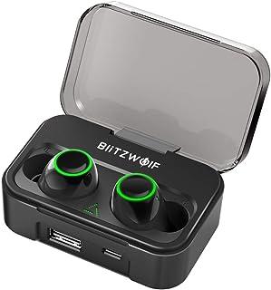 Wireless Earbuds, BlitzWolf 2600mAh Latest Bluetooth 5.0 True Wireless Bluetooth Headphones, Touch-Sensitive Control, 40H ...