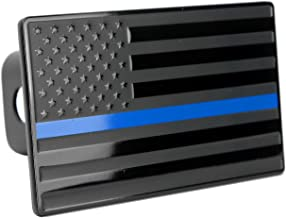 Bright Hitch Thin Blue Line American Flag Hitch Cover