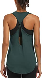 CNJUYEE Yoga Tops for Women Activewear Workout Tank Tops Athletic Women's Sleeveless Tops Open Back Running Sports Shirts