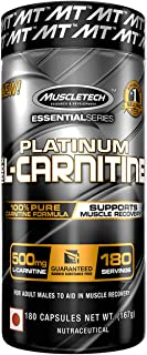 MuscleTech L-Carnitine Supplement, 500mg Acetly-L-Carnitine, Post Workout & Muscle Recovery, 180 Servings (Packaging may v...