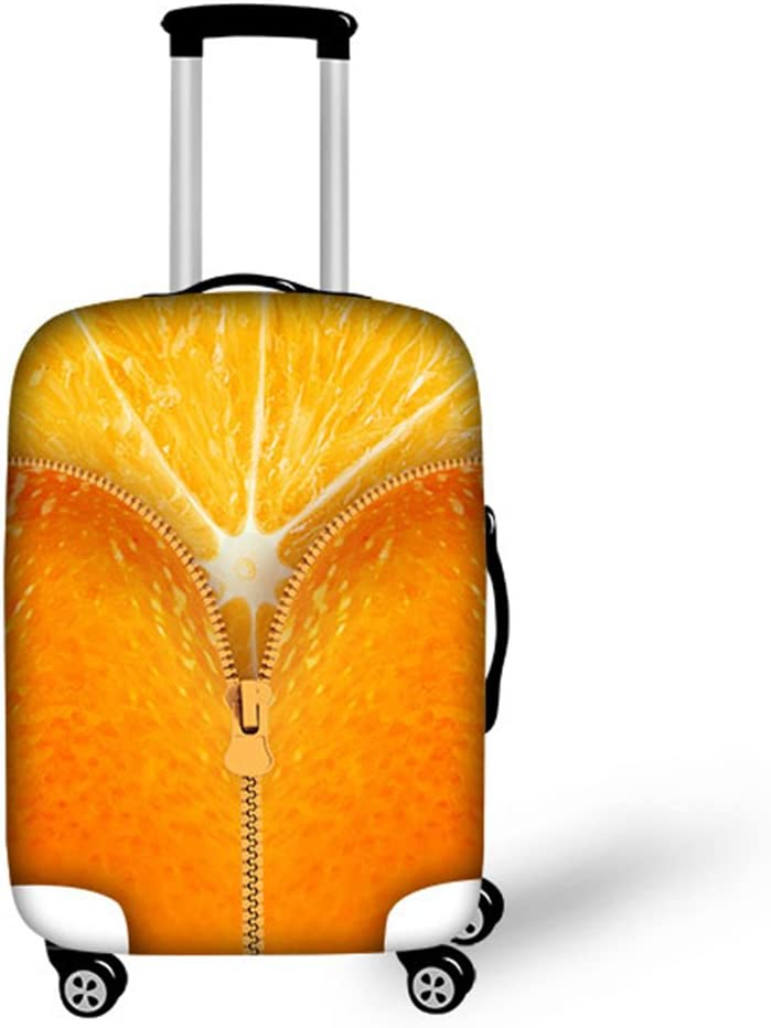 HUGS IDEA Orange Design Spandex Elastic Cover Luggage Travel Max 68% Spring new work one after another OFF Sui