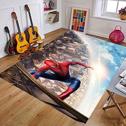 W-life Dibujos Animados Spiderman Área Alfombras Niños Play Floor Alfombra Estera Dormitorio Apartadero Antideslizante Matear Sala De Estar Decorativo (Color : 02, Size : 120 * 180cm)