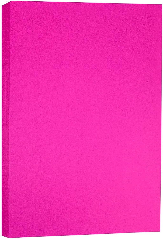 JAM PAPER Matt Tabloid Papier - 279,4 x 431,8 mm - 90gsm - Ultra Fuchsia Rosa - 100 Blätter Packung B00RBWRILY | Internationale Wahl
