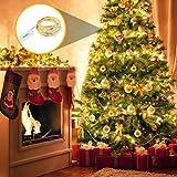 LEDGLE 8er Stück LED Lichterkette Batterie Kupfer Drahtlichterkette Warmweiß 1.2M&24LEDs Lichterketten Weihnachten Batteriebetrieben wasserdichte Lichter Flasche Dekoration - 2