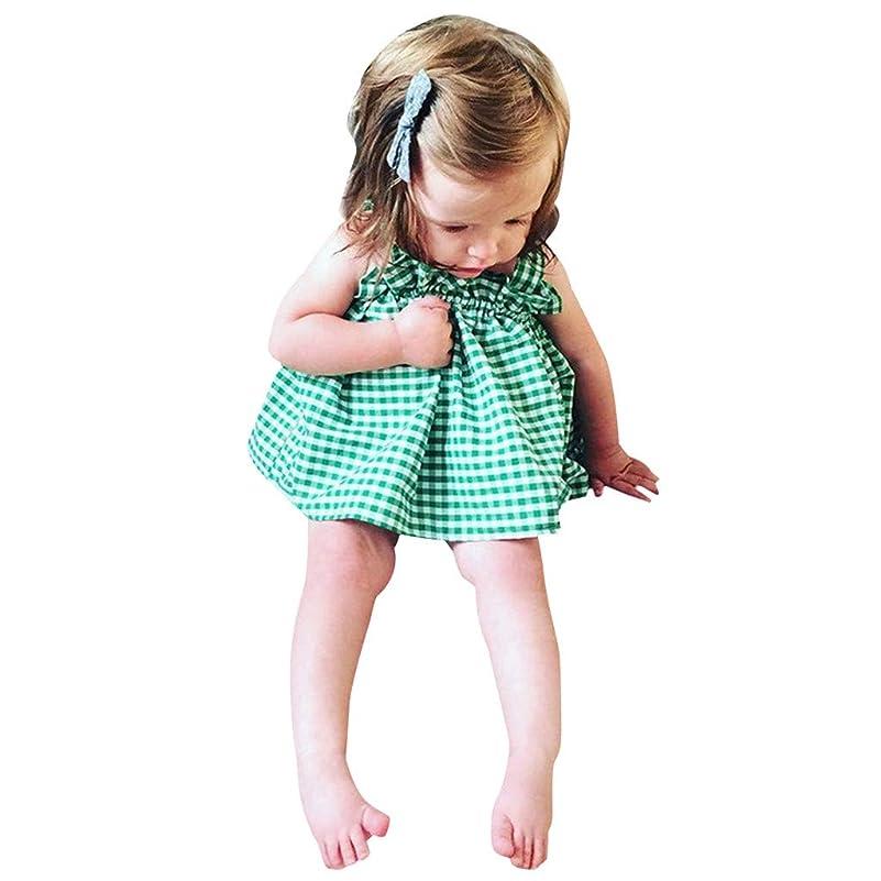 パトロールトーンプラグキッズ服 Jopinica 6ヶ月~2歳 夏グリーンチェック柄サスペンダートップス?ブリーフセット お嬢様の記念日 子供の日ファッション女の子 ガールズ2点セット