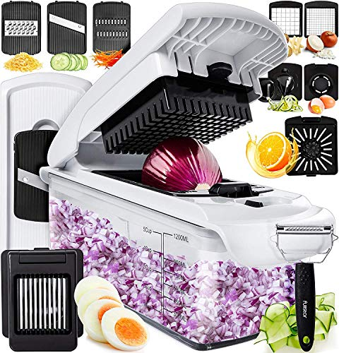 Fullstar Vegetable Chopper Dicer Mandoline Slicer  Food Chopper Vegetable Spiralizer Vegetable Slicer  Onion Chopper Salad Chopper Veggie Chopper Vegetable Cutter Food Slicer 11 Blades