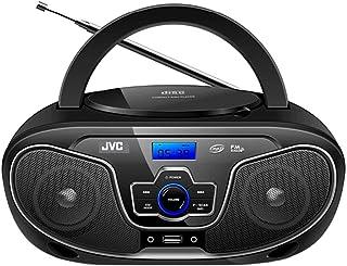 JVC Portable Bluetooth CD Player Boombox/USB/MP3/FM Radio/LCD Display 2X 4W Speaker