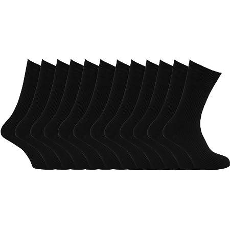 12 Pairs Mens Cotton Rich Sport Socks Work Socks Shoe Size 6-11