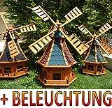 XL,windmühle,windmühlen garten, imprägniert + kugelgelagert 1 m groß rot blau rotblau...