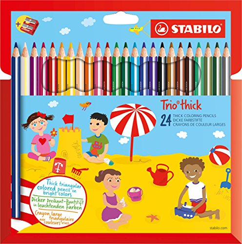 Stabilo Trio thick Multi 24pieza(s) laápiz de color – Lápiz de color (24 pieza(s), Fijo, Multi, Niño, Niño/niña, Madera)