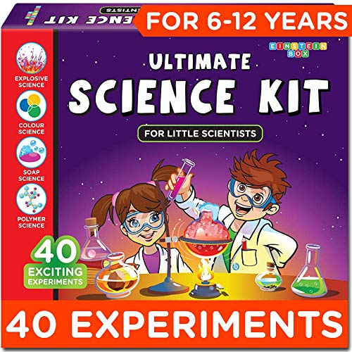 Einstein Box Science Experiment Kit   Chemistry Kit  Soap Making Kit   Toys for Boys and Girls Aged 6-12 Years   Birthday Gift Set for Girls & Boys Aged 7, 8, 9 and 10- Multi Color