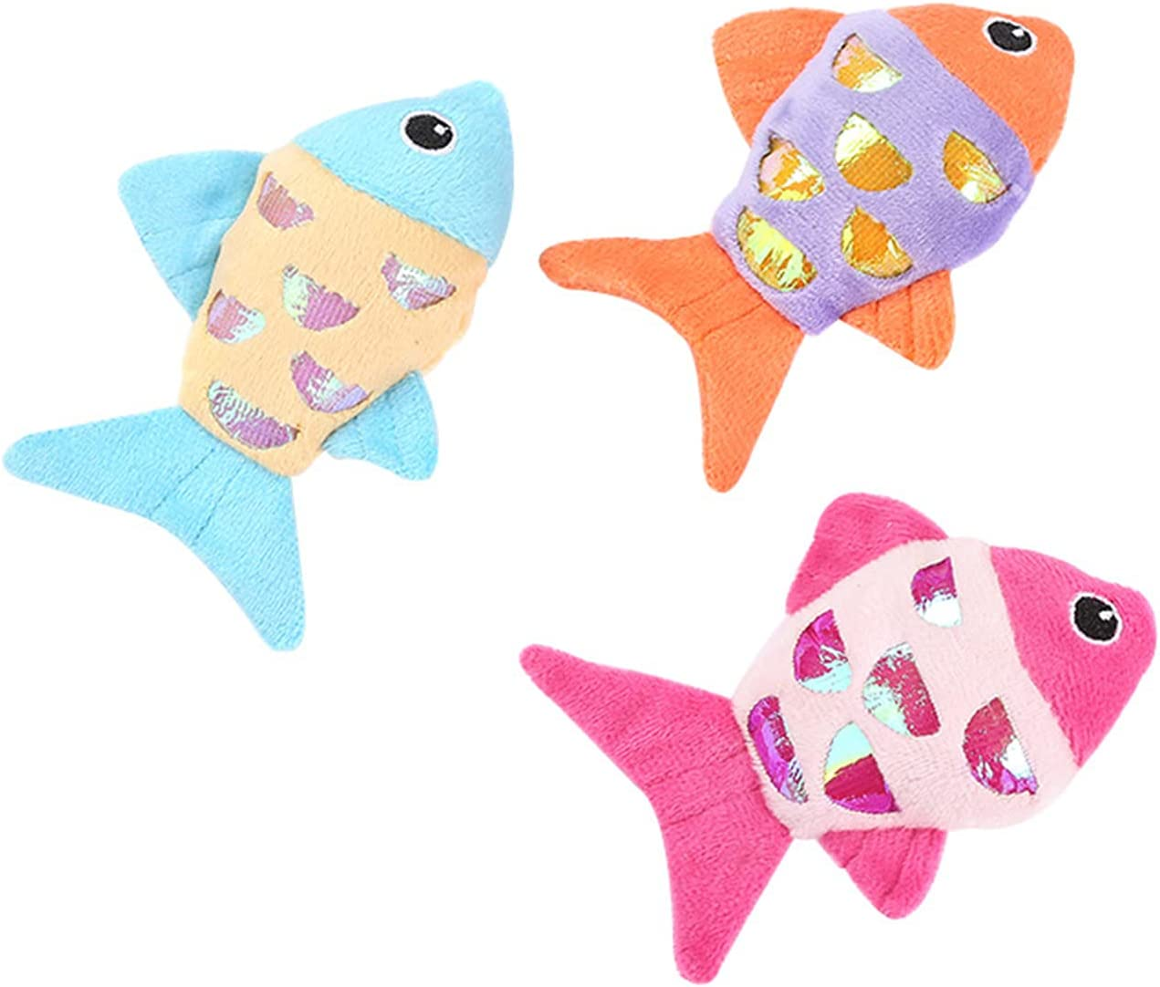 Haokaini 3pcs Ranking TOP15 Cat Toy Cartoon Fishes Bombing free shipping Catnip Toys Interactive