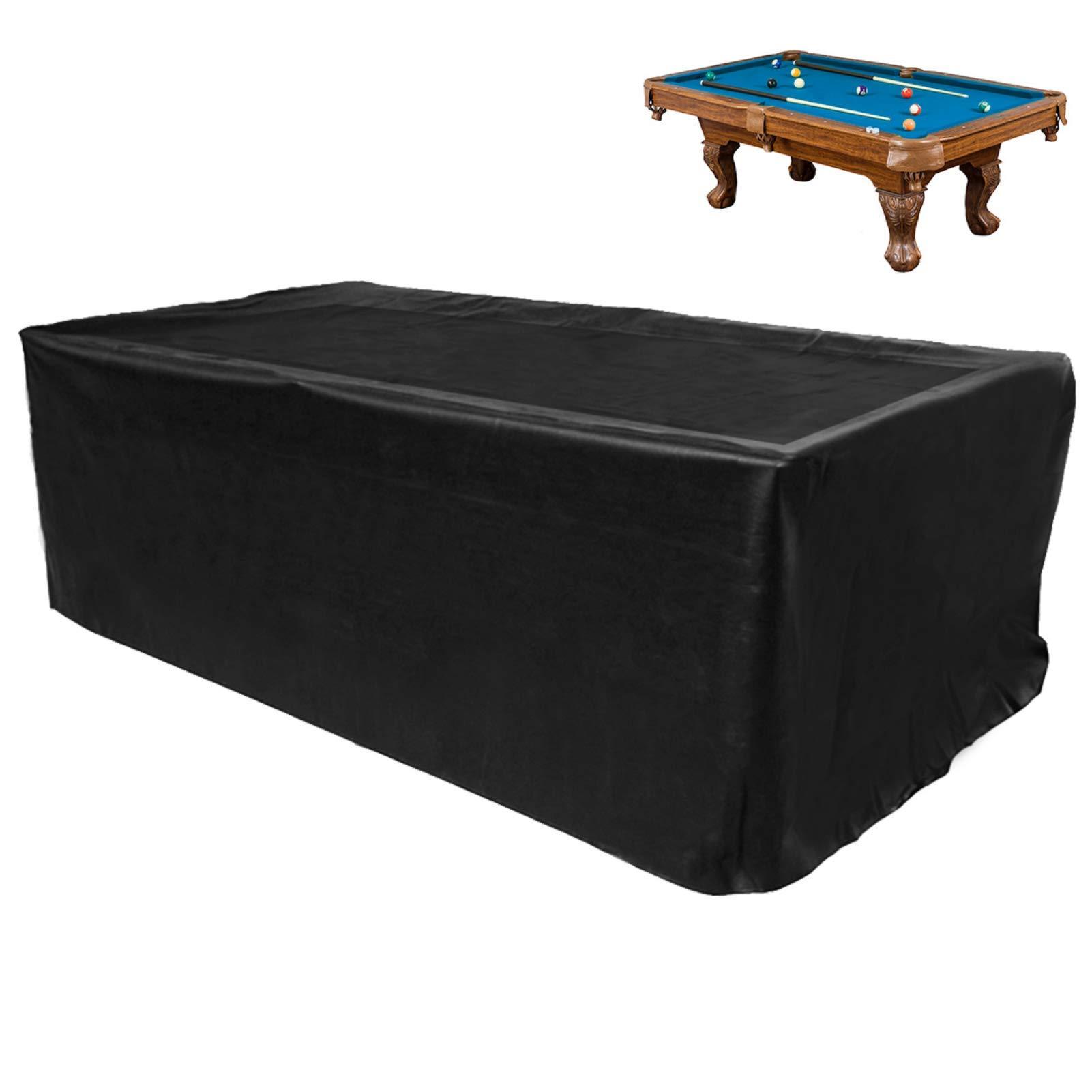 GEMITTO - Funda de poliéster para mesa de billar inglés de 210, 240 y 270 cm; cubierta para exteriores antipolvo, resistente a los rayos UV y a los desgarros 225*116*82cm Negro: Amazon.es: Hogar