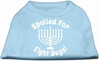Mirage Spoiled for 8 Days Screen Print Dog Shirt, XX-Large, Baby Blue