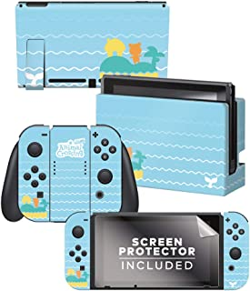 Controller Gear Authentic and Officially Licensed Animal Crossing: New Horizons - Whale Tales Nintendo Switch Skin Bundle ...