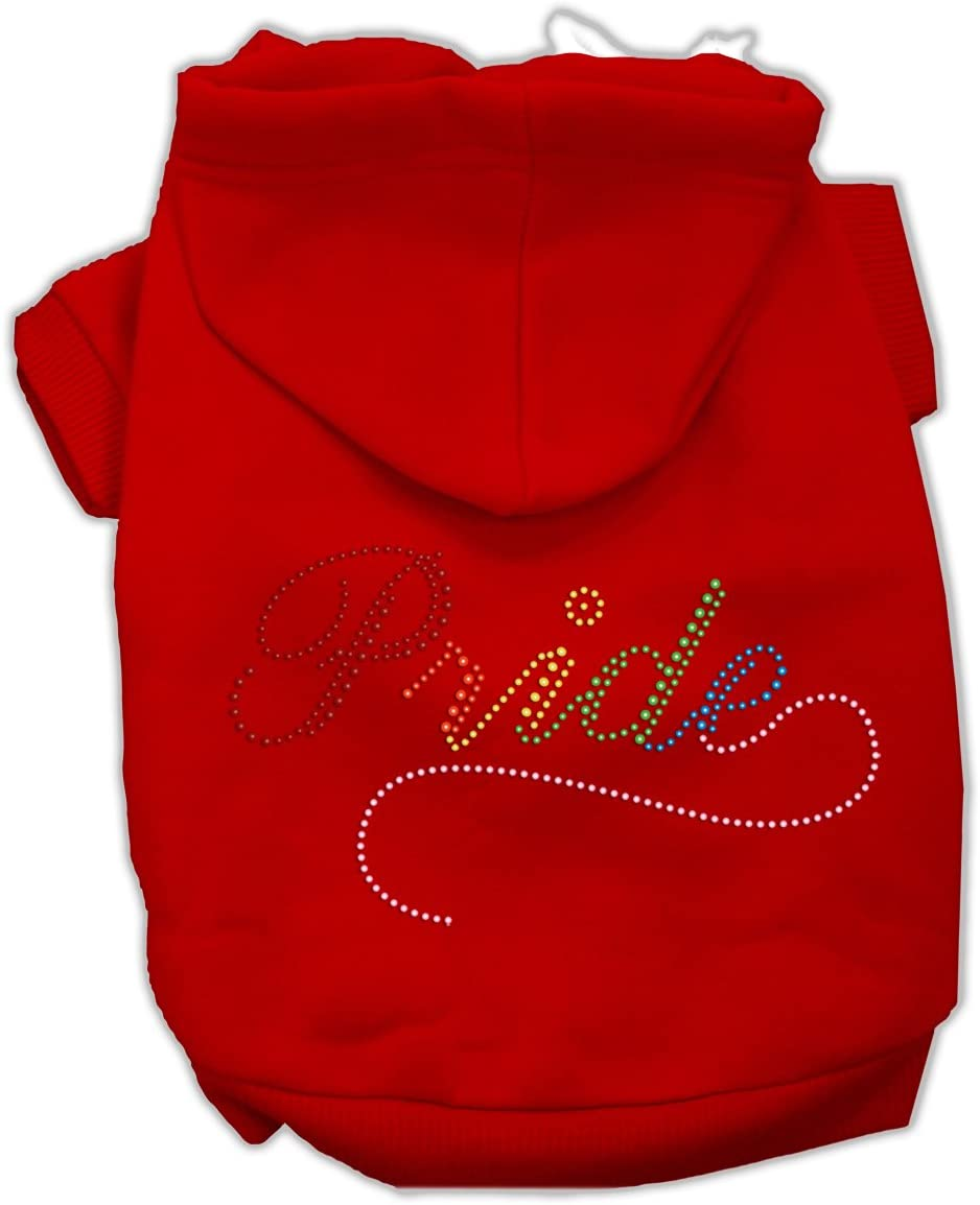 Ranking TOP1 Mirage Pet Products Rainbow Colored Pride Low price Hoodies Red X-Small