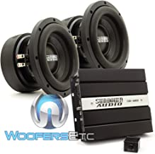 pkg Sundown Audio SAE-600D Monoblock 600 Watts RMS Digital Class D Amplifier + (2) Sundown Audio E-8 V.5 D4 8