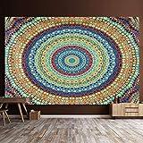 Mandala Tapiz Tapices de pared Manta india Tapices Hippie Bohemia Decoración de pared Ropa de cama Colcha Yoga Meditación 150x130 cm