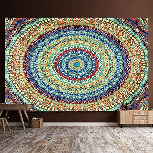 Mandala Tapiz Tapices de pared Manta india Tapices Hippie Bohemia Decoración de pared Ropa de cama Colcha Yoga Meditación 150 * 130cm