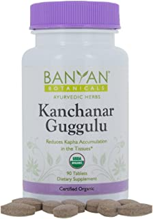 Banyan Botanicals Kanchanar Guggulu - USDA Organic - 90 Tablets - Energizing Ayurvedic Herbs for Thyroid & Lymphatic Wellness*
