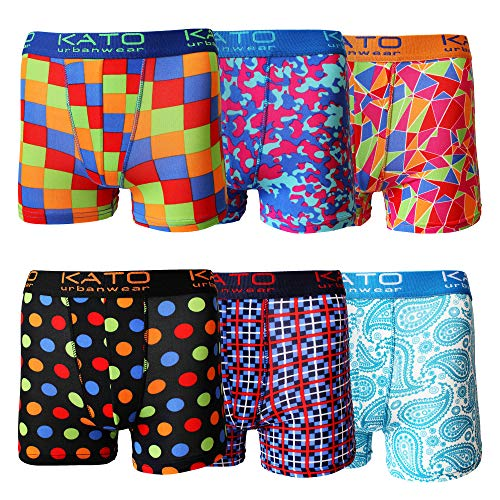 Confortable en Coton Stretch 6 Pack Homme Emoji Boxer Shorts TRUNKS Tailles S M L XL