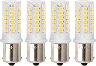 12V AC/DC Low Voltage 5Watt BA15S S8 SC Bayonet Single Contact Base 1156 1141 LED Light Bulb Warm White 3000K, for Outdoor Landscape Lighting Path Lighting Deck Lighting(Pack of 4)