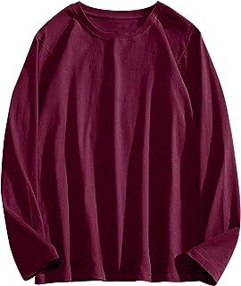 BOFETA ロンTインナーシャツ メンズ 長袖 Tシャツ 綿100 肌着 柔らかい肌触り クルーネック スウェット 無地 通気性 防菌防臭 型崩れ防止 春秋冬 トレーナー カジュアル ゆったり カットソー 大きなサイズ