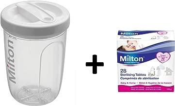 Milton Solo Single Bottle Sterilizer & Milton Sterilizing Tablets 28 tabs 2 Items