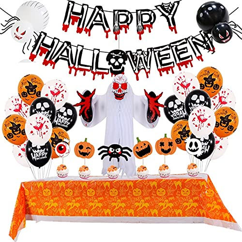 Nsdfrtm Halloween-Ballon für Flagge Farbe Papier Waben-Stereo-Ghost-Paket Halloween-Party-Dekoration Ballondekoration (Color : Honeycomb Ball, Size : 01)