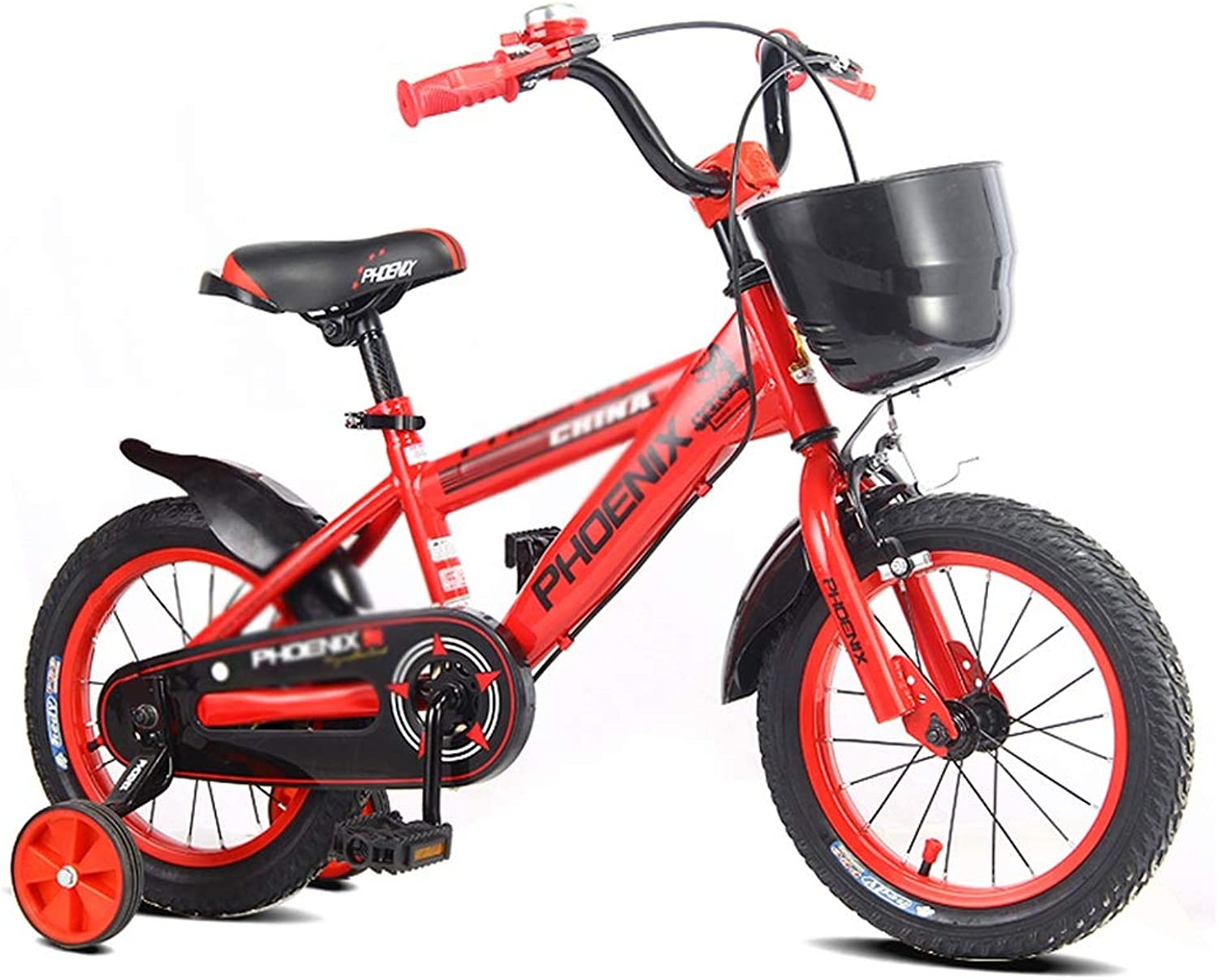 Kids' Bikes Student Bicycle Single Speed Bicycle Student Bicycle Girl Bicycle Bicycle, Birthday Gift (color   Red, Size   14inches)
