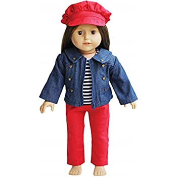 "Dark Navy Stretch Jeans Pants fit 18/"" American Girl Size Doll"