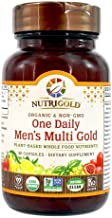 NUTRIGOLD - ONE DAILY MEN'S MULTI GOLD 30cap (Organic, non-GMO, whole-food vitamins and minerals from real fruits, vegetables, and herbs. Convenient one-per-day vegan capsules!) 30 Servings