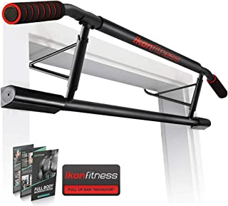 Ikonfitness Pull Up Bar Max with Ergonomic Grip - USA Original Patent, USA Designed, USA Shipped, USA Warranty, Black