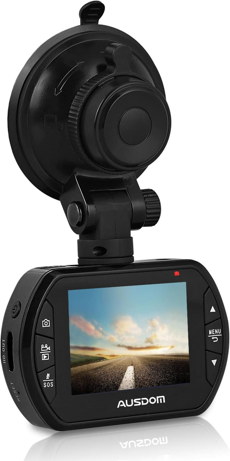 Challenge the lowest price of Japan AUSDOM Dash Cam AD170 with Loop-Cycle 1080P FHD Long-awaited G-Sensor Record