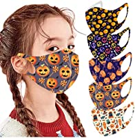 5 PC Halloween Reusable Vintage Unisex Adult Face Bandanas Washable Breathable Cotton