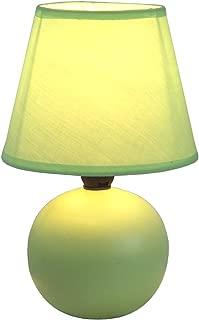 Simple Designs Home LT2008-GRN Mini Ceramic Globe Table Lamp, 5.51