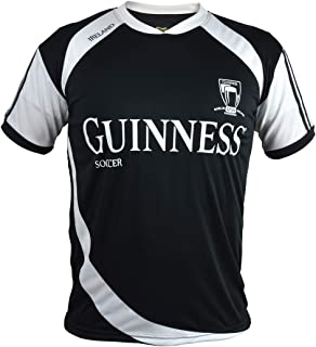Guinness Soccer Jersey - Black/White Polyester Athletic Short Sleeve Shirt