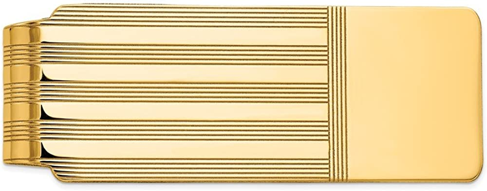 Solid 14k Yellow Gold Men's Slim Financial sales sale Mon Low price Card Holder Business Credit