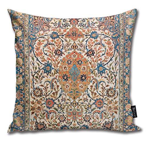 tyui7 Funda de Almohada Alfombra Persa Central Antigua de Isfahan Pillowcase de...