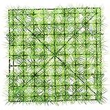 Ladieshow 5PCS Césped de simulación de Pared de Plantas Artificiales para decoración de Fondo Interior y Exterior