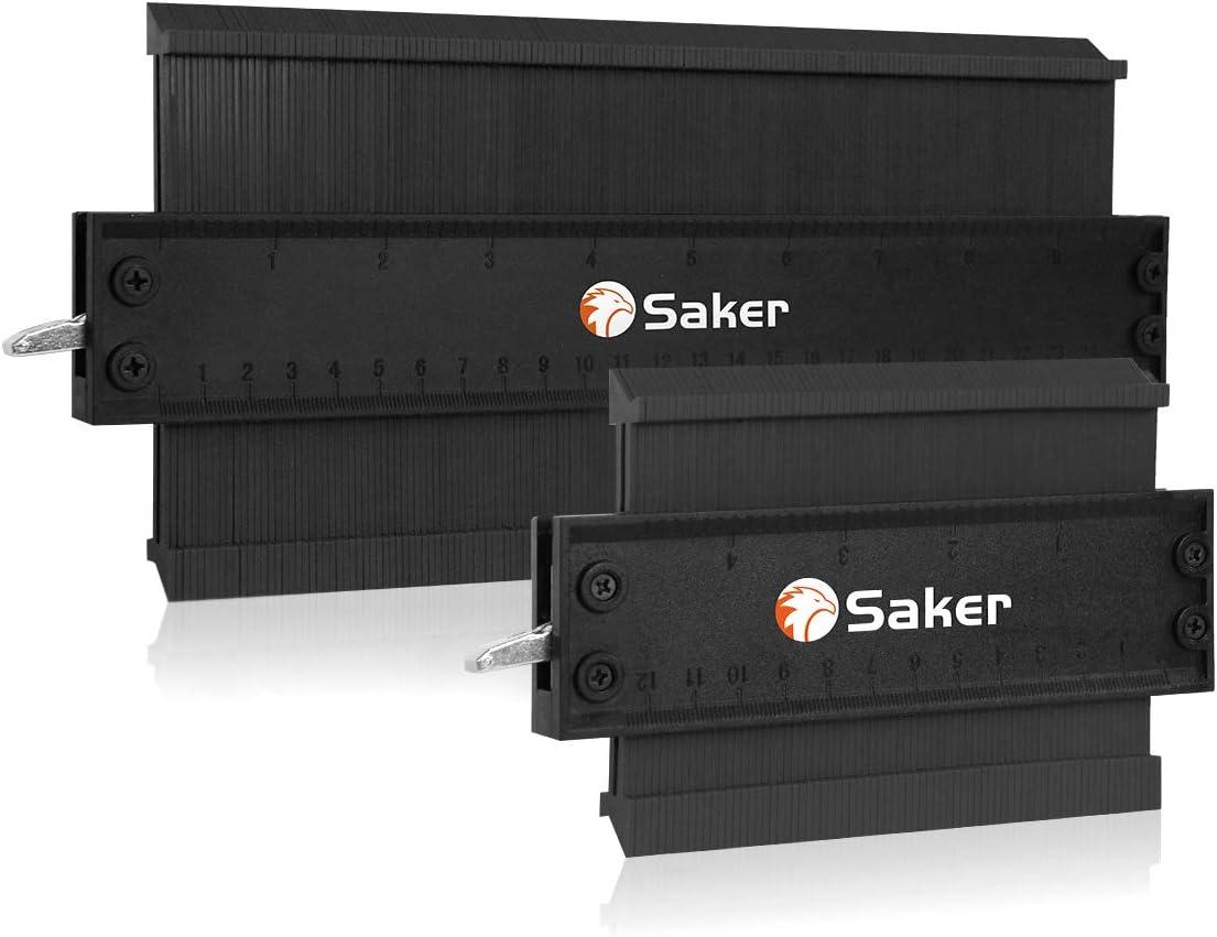 Saker Contour Gauge Profile Tool-Contour Duplication Gauge-Adjustable Lock -Precisely Copy Irregular Shape Duplicator - Must Have Tool for DIY Handyman, Construction(10 Inch+5 Inch)