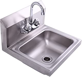 Tap Industries TWMF-806 Commercial NSF Wall-Mount Faucet for Restaurant Kitchens with 6 Inch Swing Spout