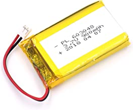 3.7V 900mAh 603048 Lipo Battery Rechargeable Lithium Polymer ion Battery Pack with JST Connector