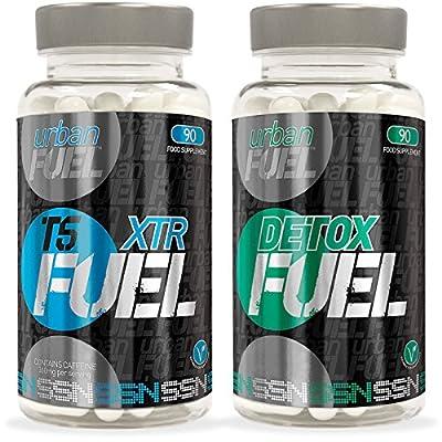 Urban Fuel XTR T5 Fat Burners & Detox Fuel Bundle (90 Capsules)
