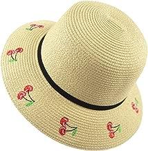 LBY - Sombrero de Paja de Verano con diseño de Corbata de Sol Coreana, Beige, M (56-58cm), 1