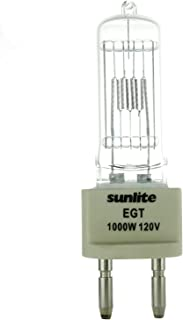 Sunlite EGT 1000W/T7/120V/CL/G22 1000-watt 120-volt Bi-Pin Based Stage and Studio T7 Bulb, Clear