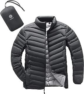 LAPASA Men's Packable Down Jacket Water Resistant with Zipper Pockets Lightweight Winter Outerwear Duck Down-Filled M32