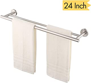 KES 24-Inch Double Towel Bar Bathroom Shower Organization Bath Dual Towel Hanger Holder Brushed SUS 304 Stainless Steel Finish, A2001S60-2