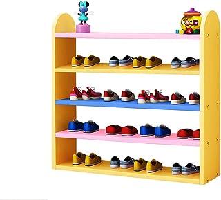 Organisateur de rangement pour chaussures pour enfants Support de rangement pour enfants coloré en bois pour porte Hall Ch...