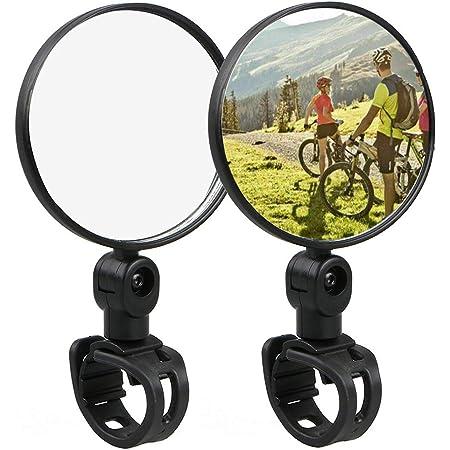 Gotyou 4 Schwarze Fahrrad Spiegel Einstellbar 360 Drehbar Klappbar Fahrrad Rükspiegel Mountain Bike Zubehör Set Für Fahrrad Mofa Rollstuhl Roller Sport Freizeit